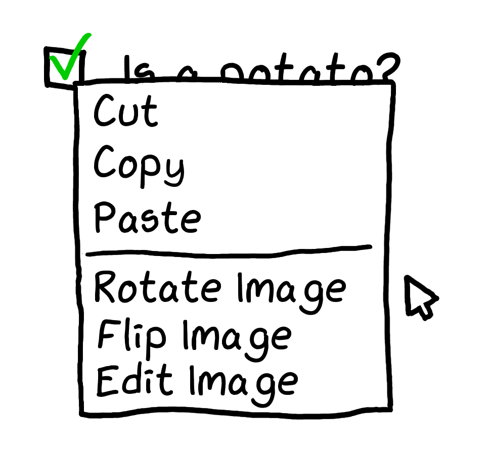 Example of image checkboxes in one of the forms we encountered